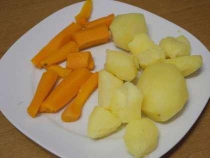 Очистить овощи от кожуры