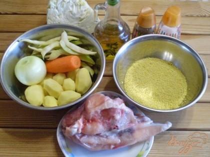 Для варки супа буду использовать куриный бульон из супового набора.