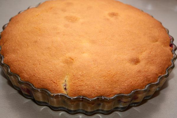 Печется такой пирог при температуре 150-160 градусов минут 30-40. Он должен зазолотиться и немного подняться.  Можно проверить готовность при помощи спички или деревянной зубочистки.