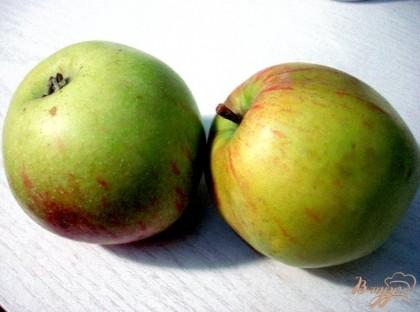 Яблоки моете.