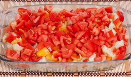 Капуста с помидорами в духовке рецепт