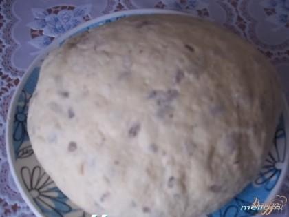 Замесить тесто, в последнюю очередь добавить семечки и кунжут. Тесто скатать в шар и убрать в холодильник на 1 час.