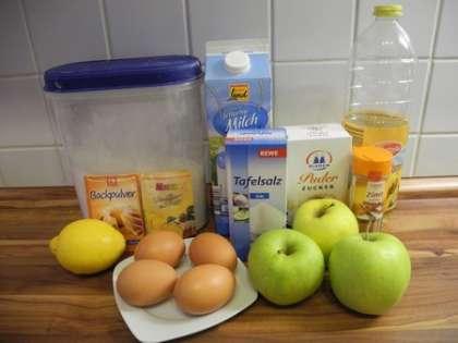 Для приготовления яблочных блинов нам понадобится: