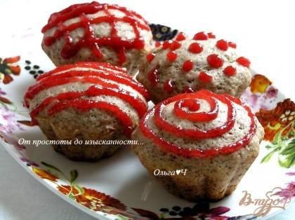 Кексы вишневым вареньем рецепт фото