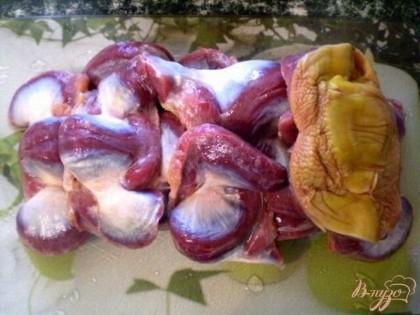 Утиные желудки рецепт с пошагово в