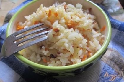 рецепт риса в мультиварке к рыбе