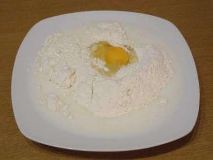 Приготовить кляр из муки, яйца  и молока