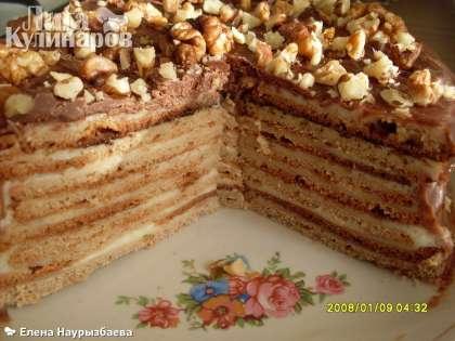 """Вот такой торт """"Сластена"""" он в разрезе. Приятного аппетита маленьким сластёнам!"""