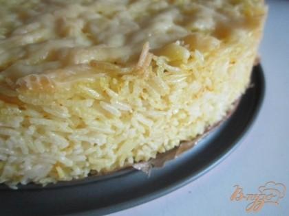Пирог риса консервы фото рецепт