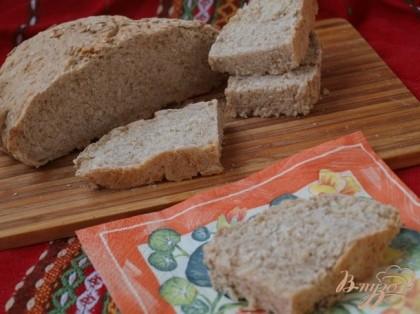 Готово! Хлеб выпекаем до золотистой корочки 25-30 минут.Остужаем на решётке.Приятного аппетита!!!