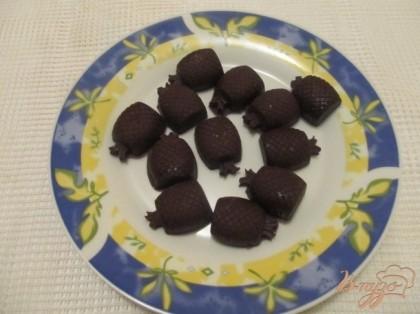 Готово! Вынуть готовые конфеты из формочки. Приятного аппетита!