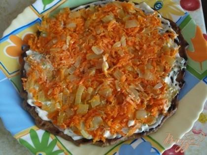 Печеночный торт с грибами рецепт с фото