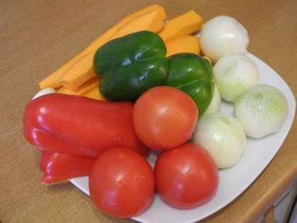 Овощи вымыть и почистить