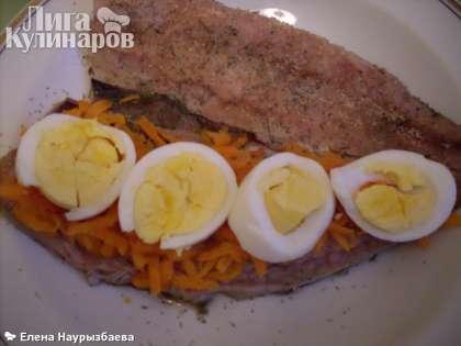 Сверху яйца