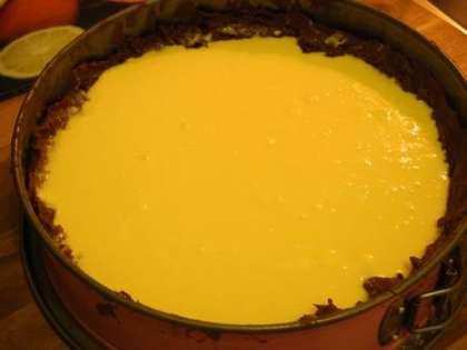 Вылить в форму приготовленную начинку