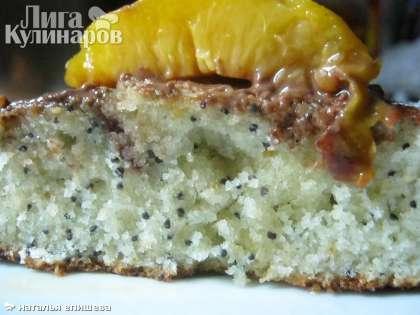 Пирог маковый  с персиком готов! Всем приятного аппетита!!