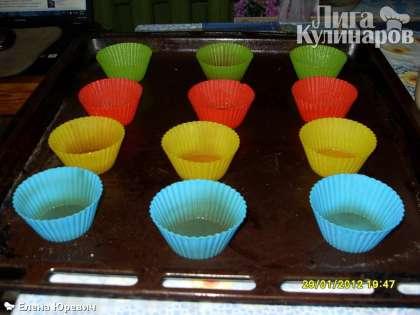Манник в формочках для кексов