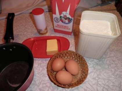Для приготовления омлета понадобится: