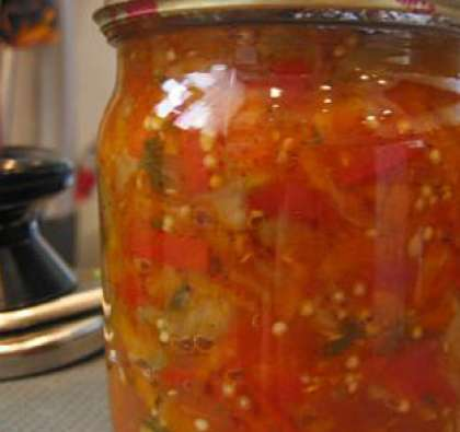 Салат из огурцов и перца на зиму с фото