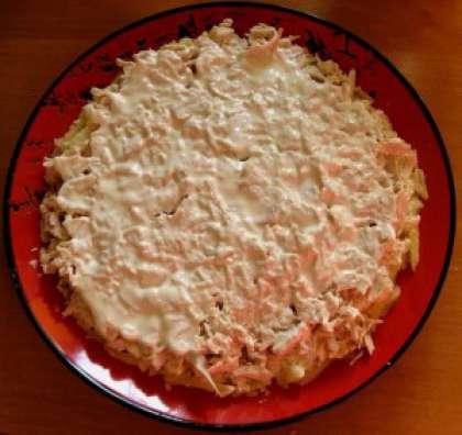 Салат подсолнух с копченой курицей рецепт фото