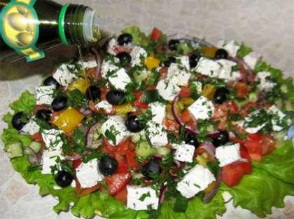 рецепт греческого салата и фото
