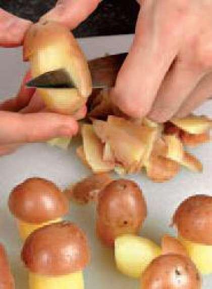 Как сделать грибы из картофеля