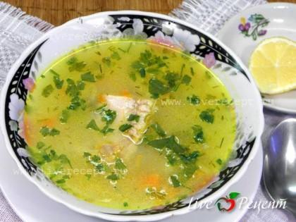 Суп из индейки с рисом и картошкой