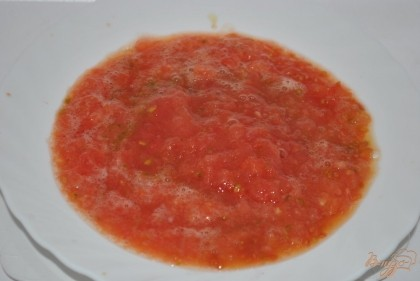 Натереть помидоры на терке