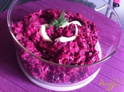 Как сделать салат из свеклы и грецких орехов