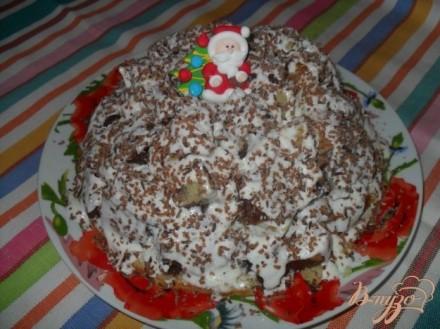 """Торт """"Графские развалины с фруктами"""""""