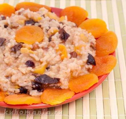 Рис с курагой и черносливом рецепт с пошагово