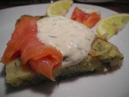 Картофель-рёшти с лососем
