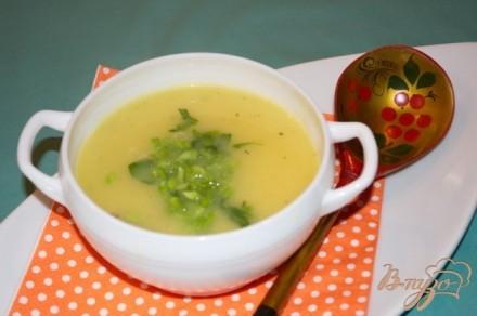 Картофельный суп-пюре с курицей и зеленью