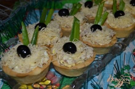 рецепты салатов в тарталетках с фото