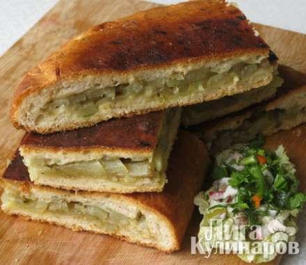 Пирог из картофеля с фото пошагово в духовке