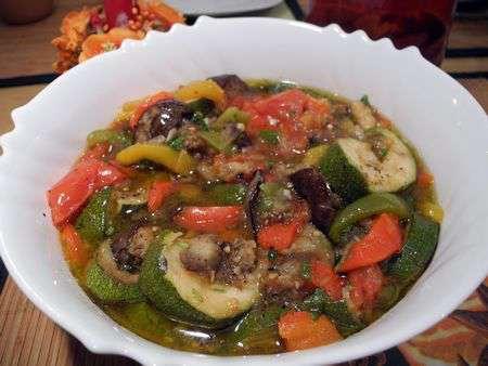 Салат-гарнир из запеченных овощей