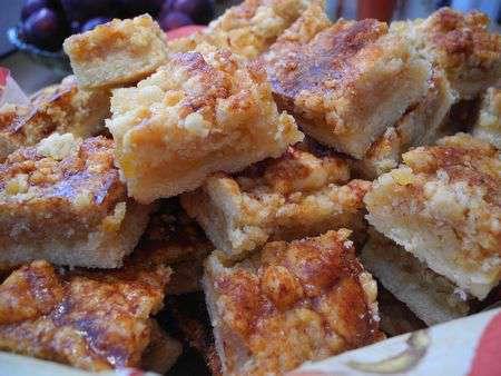 Лимонные квадратики с медом и орехами