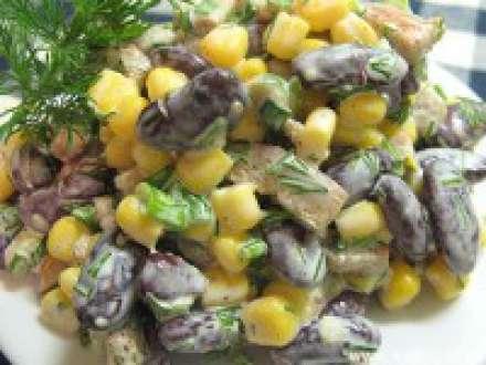Как сделать салат из кукурузы и фасоли