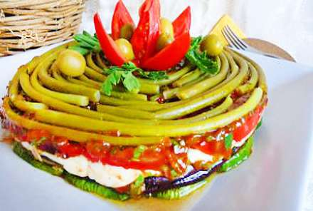 Овощные торты-фото